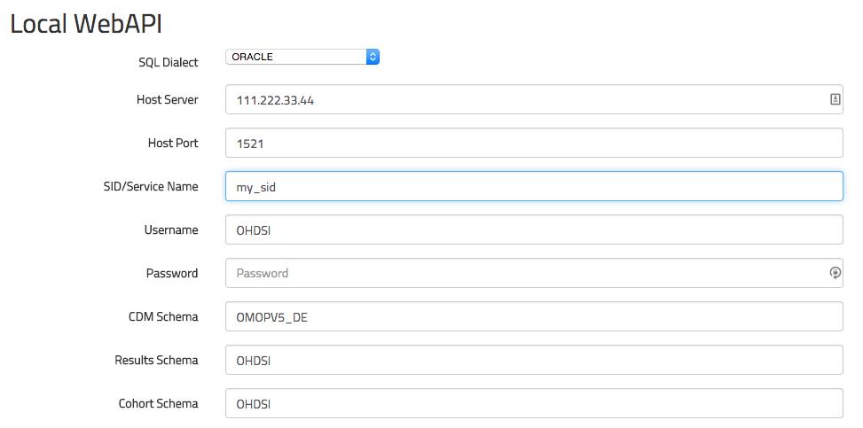 Olympus WebAPI Configuration