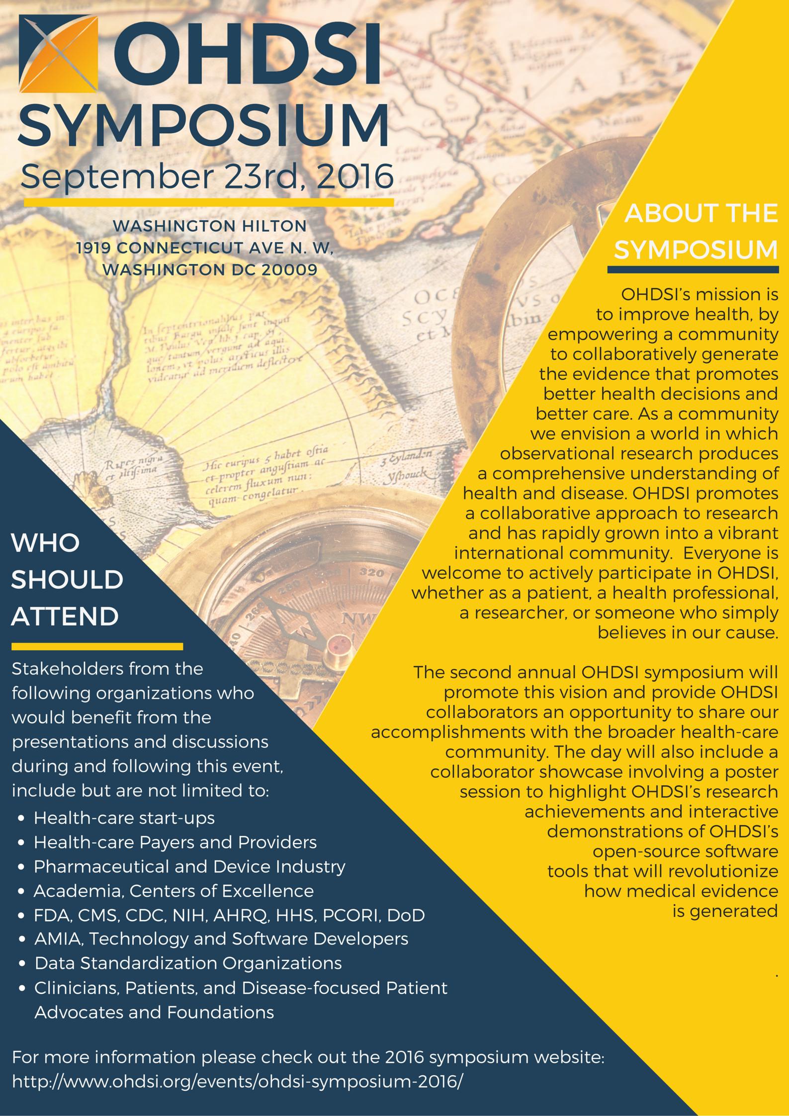 OHDSI Symposium 2016 - Poster 05272016